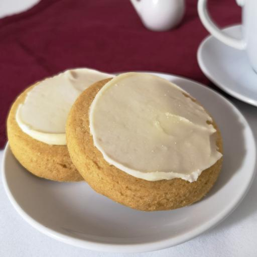 Lemon Iced Ginger Biscuits